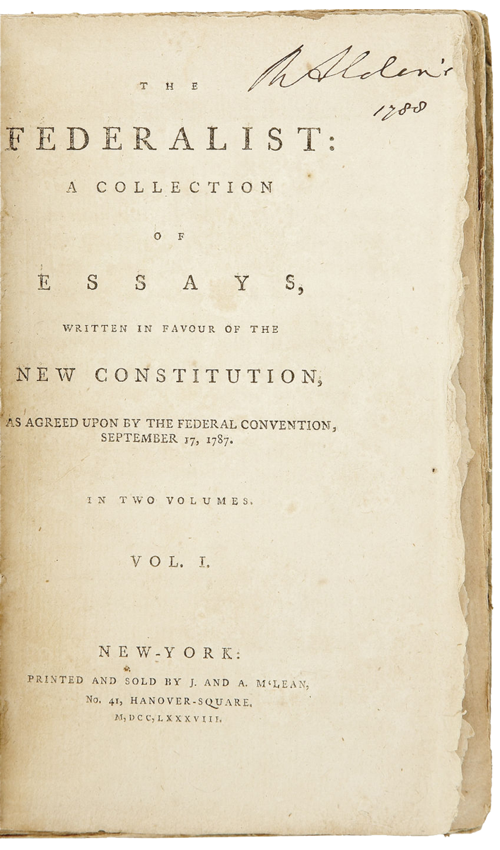 federalist first edition the th century rare book and  federalist first edition 1788the 19th century rare book and photograph shop
